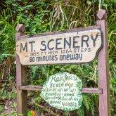 Mount Scenery Wegbeschilderung, Saba