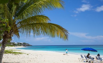Anguilla Shoal Bay Beach relaxing on the beach